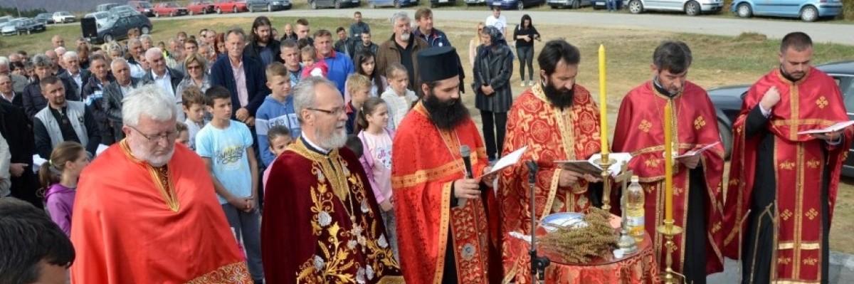 Освећење темеља нове цркве на Мачковом Камену